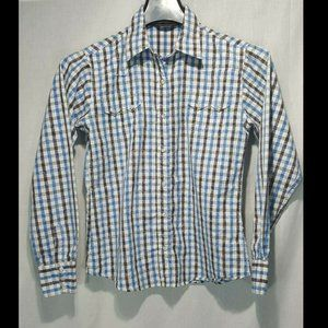 Vnt Walls RanchWear Western Pearl Snap Shirt Small